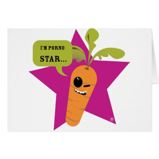 i'm a porn star !! © Les Hameçons Cibles Greeting Card