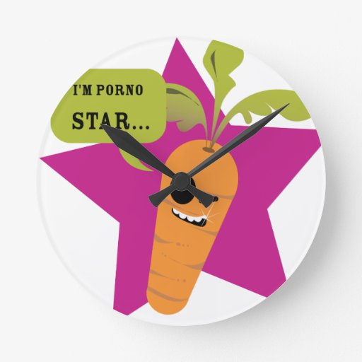i'm a porn star !! © Les Hameçons Cibles Wall Clocks