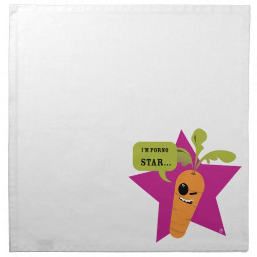 i'm a porn star !! © Les Hameçons Cibles Cloth Napkins