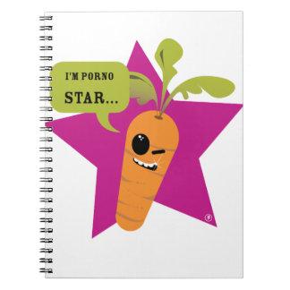 i'm a porn star !! © Les Hameçons Cibles Spiral Note Book