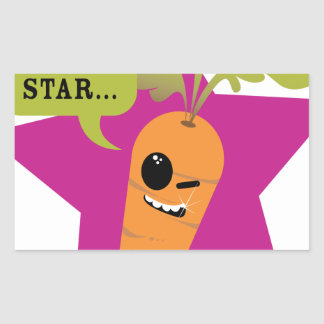i'm a porn star !! © Les Hameçons Cibles Rectangular Sticker