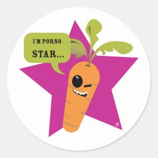 i'm a porn star !! © Les Hameçons Cibles Round Sticker