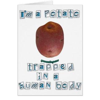 I'm a Potato Greeting Card