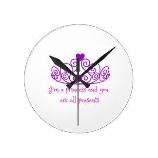 I'm a princess - funny girly product clocks