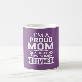 I'M A PROUD DRUMMER'S MOM COFFEE MUG