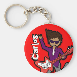 """I'm a Rockstar"" red graphic named keychain"