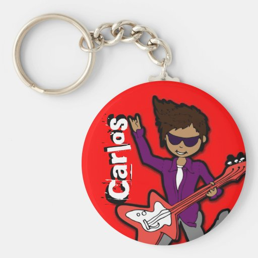 """""""I'm a Rockstar"""" red graphic named keychain"""