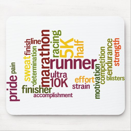 I'm a Runner Words Mouse Pads