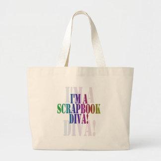 I'm a scrapbook diva unioneight union+eight peacoc jumbo tote bag