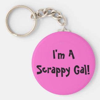 I'm A Scrappy Gal Keychain