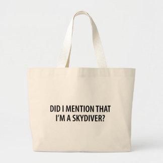 I'm A Skydiver Jumbo Tote Bag