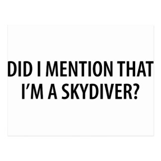 I'm A Skydiver Post Cards