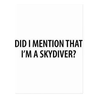 I'm A Skydiver Postcard