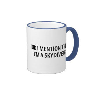 I'm A Skydiver Ringer Coffee Mug