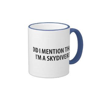 I'm A Skydiver Ringer Mug