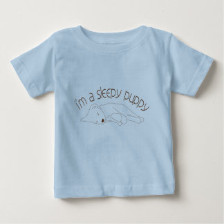 I'm a Sleepy Puppy (Baby) Baby T-Shirt