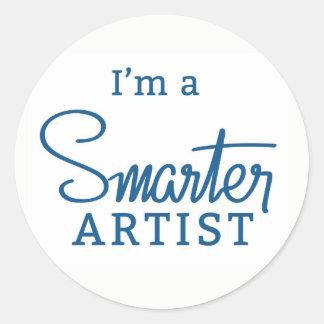 I'm a Smarter Artist round sticker sheet