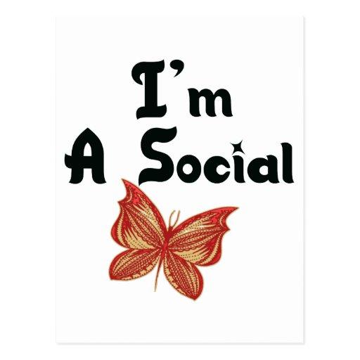 I'm A Social Butterfly Postcard