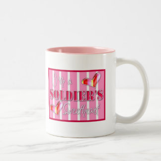 """I'm A Soldiers Sweetheart"" Two-Tone Mug"
