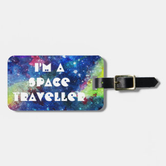 I'm a space traveller spatial galaxy painting tag for luggage