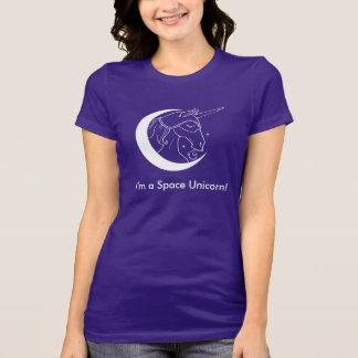 I'm a Space Unicorn tshirt (dark colors)