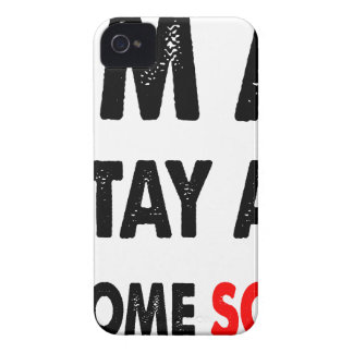 I'm A Stay At Home Son.png iPhone 4 Case-Mate Cases