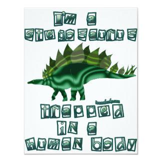 "I'm a Stegosaurus 4.25"" X 5.5"" Invitation Card"