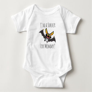 I'm a Sucker for Mommy Bat Halloween Baby Shirt