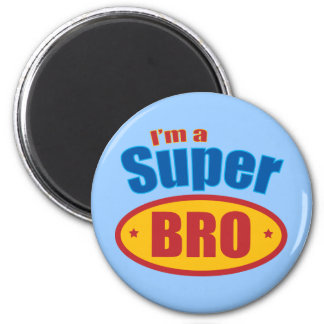 I'm a Super Bro Super Hero Brother 6 Cm Round Magnet