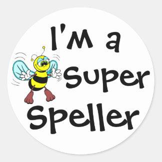 I'm A Super Speller Round Sticker