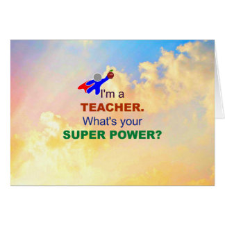 I'm a Teacher - Sky of Clouds Card