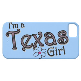 I'm a Texas Girl, Flower, Blue iPhone Cover