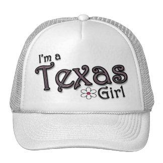 I'm a Texas Girl, Flower, Ladies Baseball Cap Hat