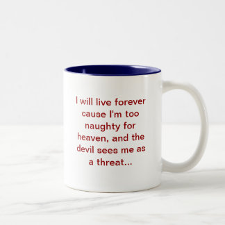 I'm a threat Two-Tone mug