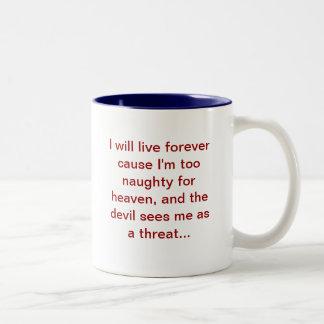 I'm a threat Two-Tone mug