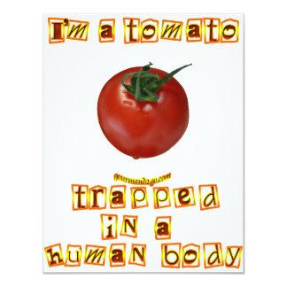 """I'm a Tomato . . . 4.25"""" X 5.5"""" Invitation Card"""