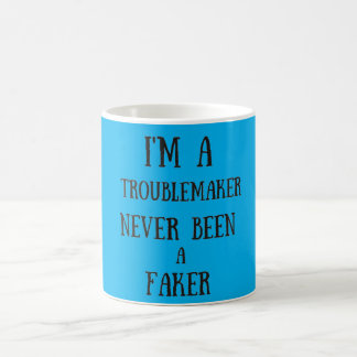 I'm a troublemaker basic white mug