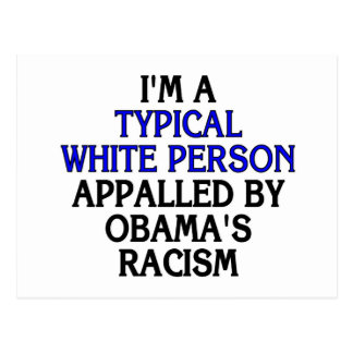 I'm a 'typical white person' appalled by... postcard