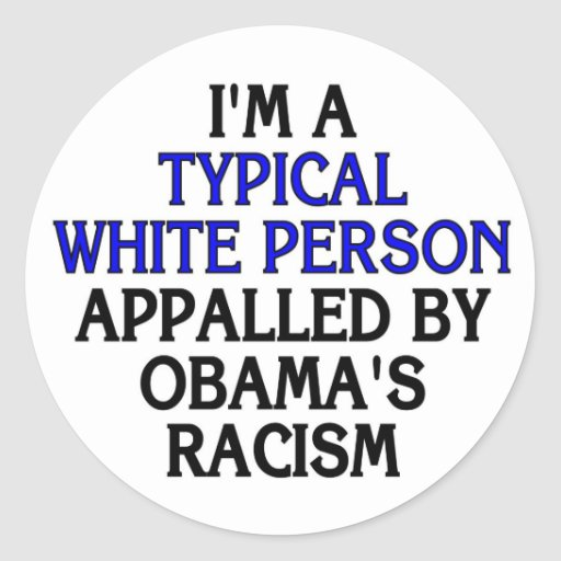 I'm a 'typical white person' appalled by... stickers