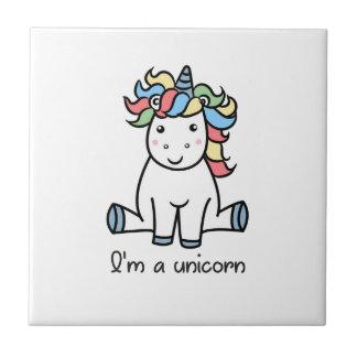 I'm a unicorn! ceramic tile