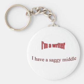 I'm a writer keychain