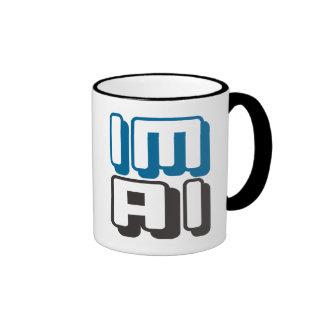 IM AI - I Am General Artificial Intelligence, Blue Ringer Mug