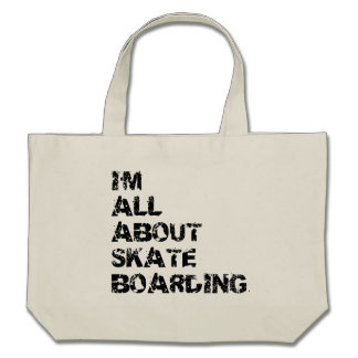 I'm All About Skateboarding Tote Bag