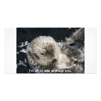 I'm all at sea without you custom photo card