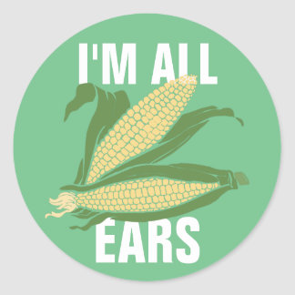 I'm All Ears Classic Round Sticker