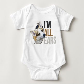 I'm All Ears - Tricolor Welsh Corgi Pembroke Baby Bodysuit