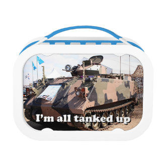 I'm all tanked up: military tank lunch boxes