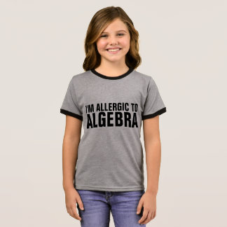 I'M ALLERGIC TO ALGEBRA Funny Kids T-shirts