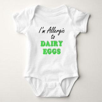 I'm Allergic to DAIRY & EGGS Baby Bodysuit