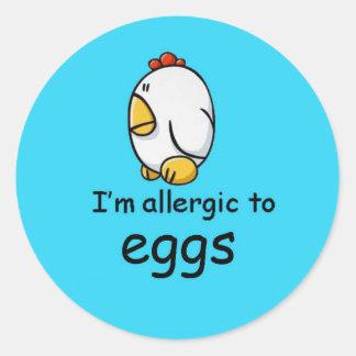 I'm allergic to eggs (more designs in store) classic round sticker